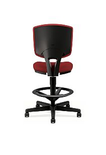 HON Volt Task Chair Red Armless Back View H5705.GA42.T