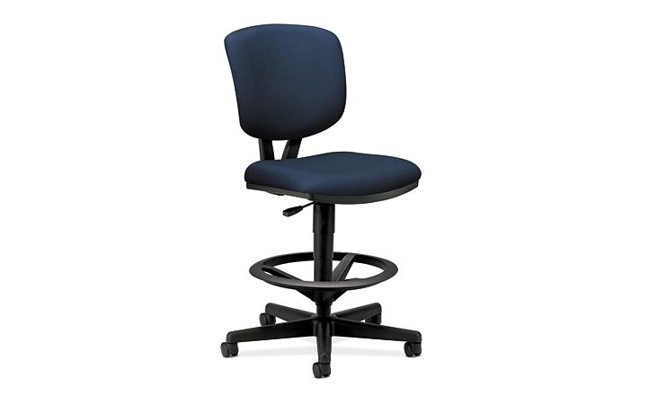 HON Volt Task Chair Blue Armless Front Side View H5705.GA90.T