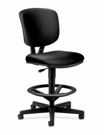 HON Volt Task Chair Black Armless Front Side View H5705.SB11.T