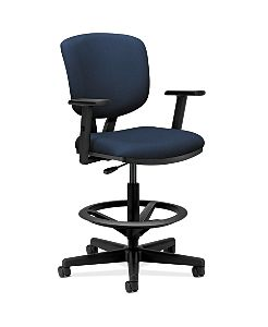 HON Volt Task Chair Blue Adjustable Arms Front Side View H5705.GA90.T