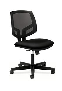 HON Volt Mesh Back Task Chair Black Synchro Tilt Front Side View H5713.GA10.T