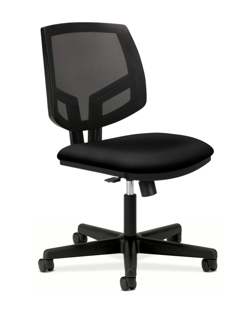 HON Volt Mesh Back Task Chair Black Synchro Tilt Front Side View H5713.GA10.T