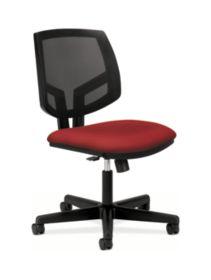 HON Volt Mesh Back Task Chair Red Synchro Tilt Front Side View H5713.GA42.T