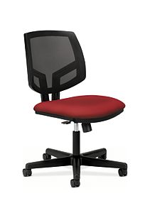 HON Volt Mesh Back Task Chair Red Synchro Tilt Front Side View H5713.GA42.T