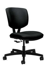 HON Volt Task Chair Poly Centurion Centurion Black Front Side View H5721.H.CU10.T