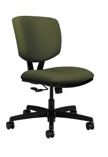 HON Volt Task Chair Poly Centurion Olivine Armless Front Side View H5721.H.CU82.T