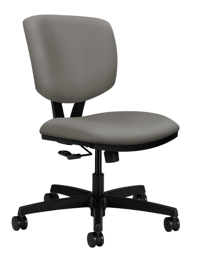 HON Volt Task Chair Poly Urethane Taupe Armless Front Side View H5721.H.UR28.T