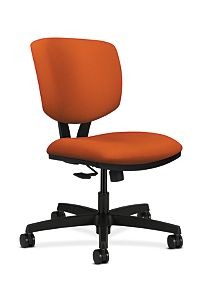 HON Volt Task Chair Orange Armless Synchro-Tilt Front Side View H5723.H.CU46.T