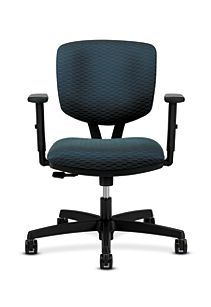 HON Volt Task Chair Blue Adjustable Arms Synchro-Tilt Front View H5723.H.D105.T
