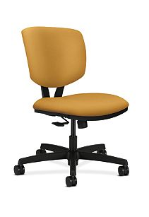 HON Volt Task Chair Yellow Armless Synchro-Tilt Front Side View H5723.H.NR26.T
