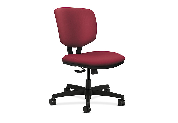 HON Volt Task Chair Red Armless Synchro-Tilt Front Side View H5723.H.NR60.T