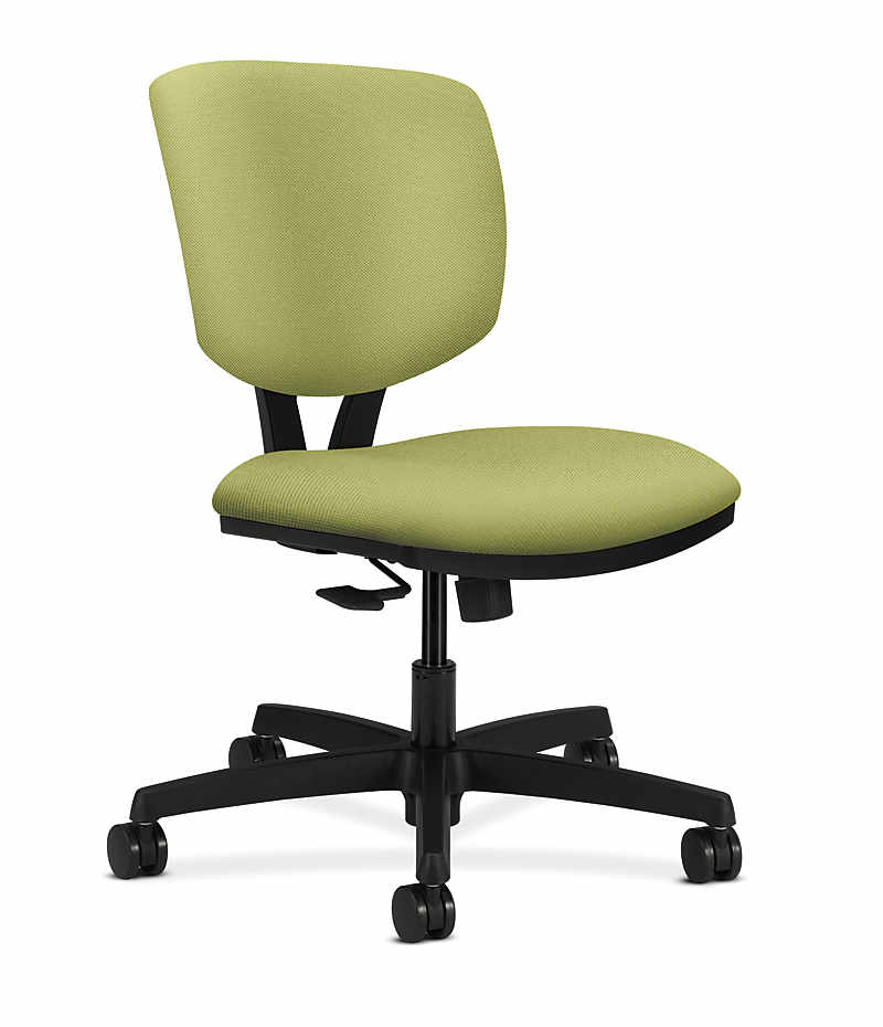 HON Volt Task Chair Green Armless Synchro-Tilt Front Side View H5723.H.NR82.T