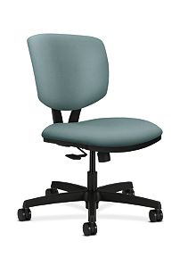 HON Volt Task Chair Gray Armless Synchro-Tilt Front Side View H5723.H.NR96.T