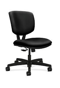 HON Volt Task Chair Black Armless Synchro-Tilt Front Side View H5723.H.UR10.T