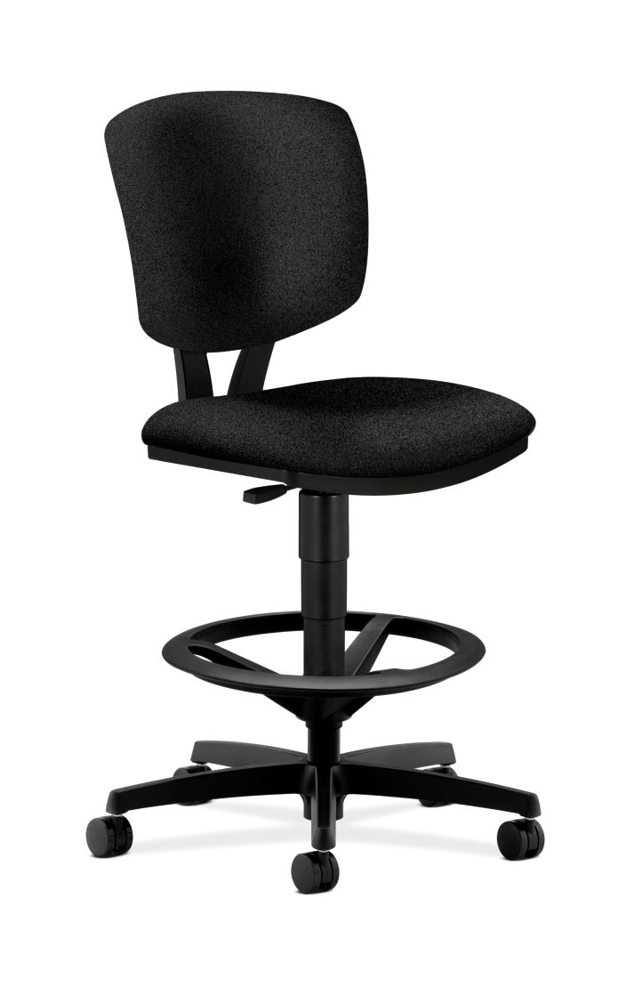 HON Volt Task Stool Black Armless Front Side View H5725.H.AB10.T
