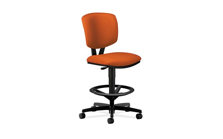 HON Volt Task Stool Light Orange Armless Front Side View H5725.H.CU46.T