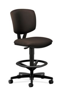 HON Volt Task Stool Black Armless Front Side View H5725.H.CU49.T