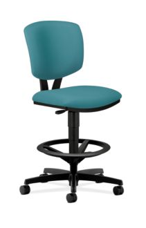 HON Volt Task Stool Light Blue Armless Front Side View H5725.H.CU96.T