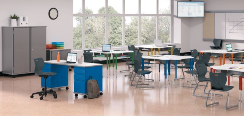 SmartLink Desks and Chairs in a Classroom setting