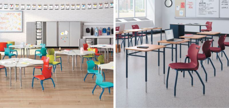 SmartLink Short and Tall Chairs and Desks for Students