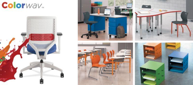 Colorwav and SmartLink furniture in classrooms