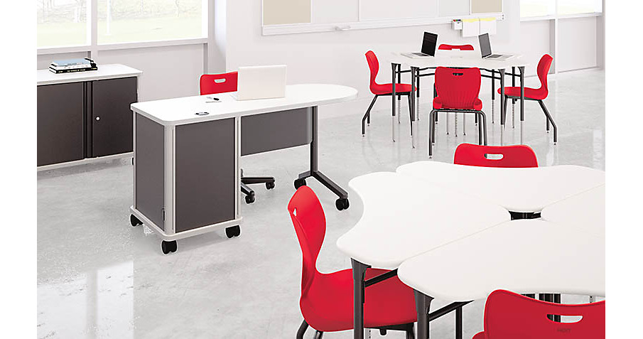 SmartLink Chairs, Desks, and Teacher Desk