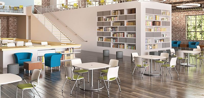 Arrange Tables in a Library Setting
