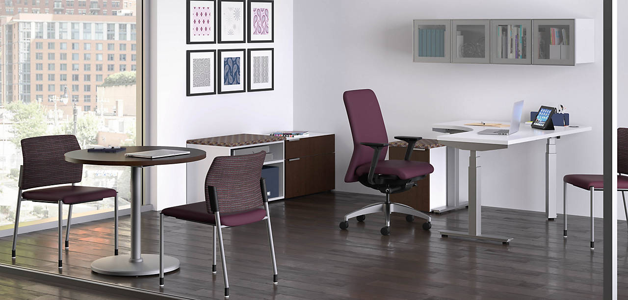 Coordinate Height Adjustable Desk in a Private Office
