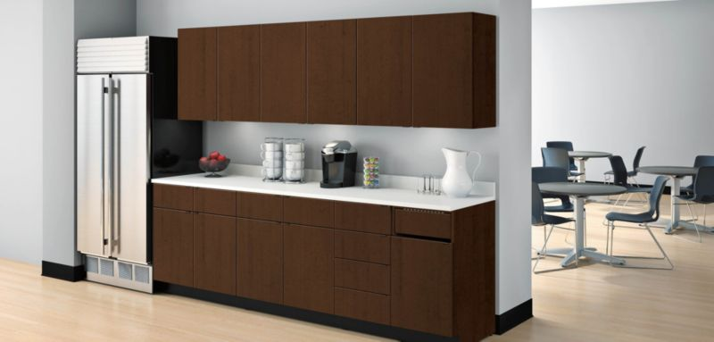 Hospitality Cabinets in a Breakroom