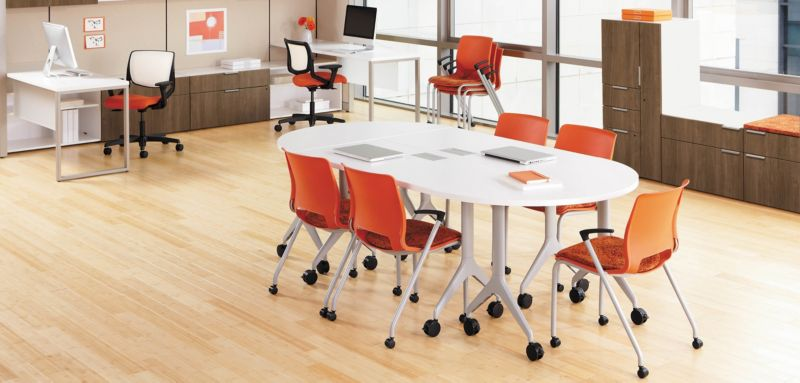 Motivate Stacking Chairs and Motivate Tables