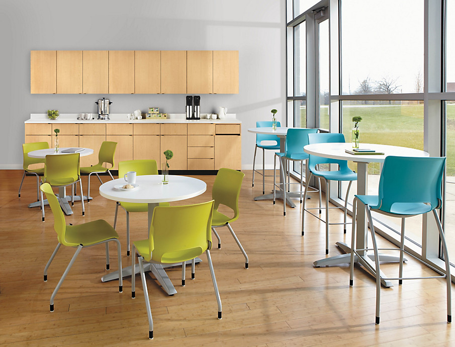 Hospitality Cabinets and Motivate chairs and Preside tables