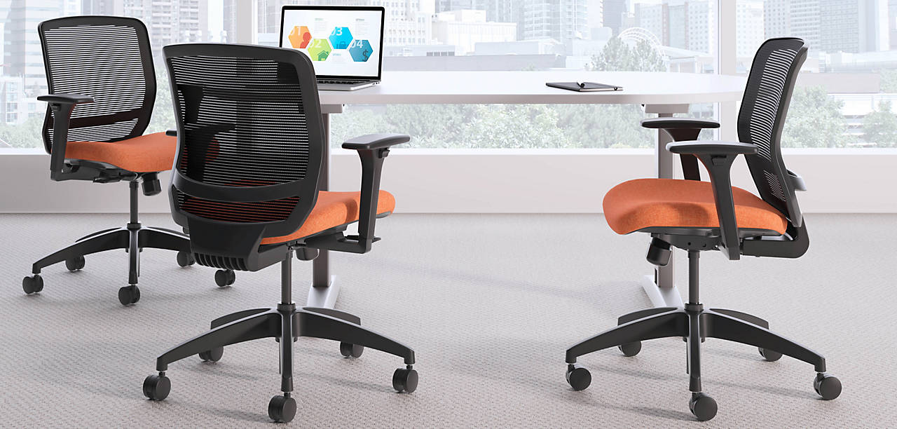 Quotient Task Chairs with Preside Table