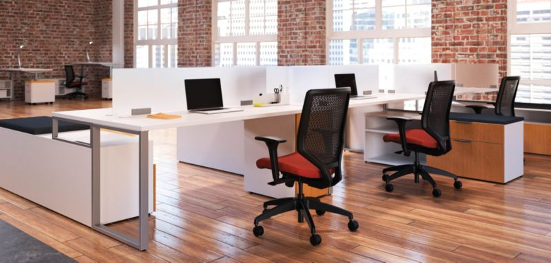 Solve Task Chairs Behind A Office Desk