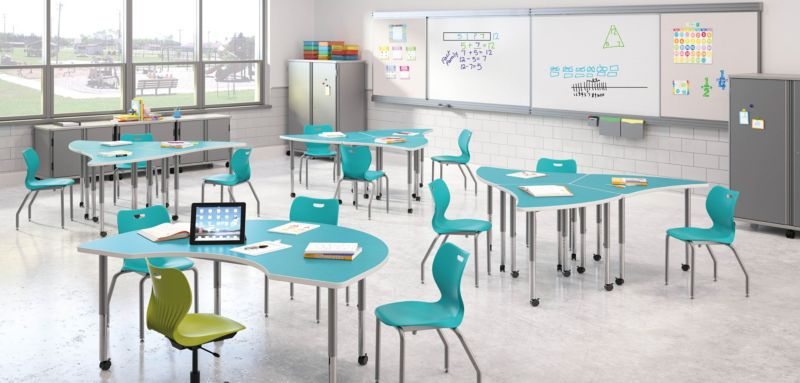 Build Tables with SmartLink Chairs School Furniture