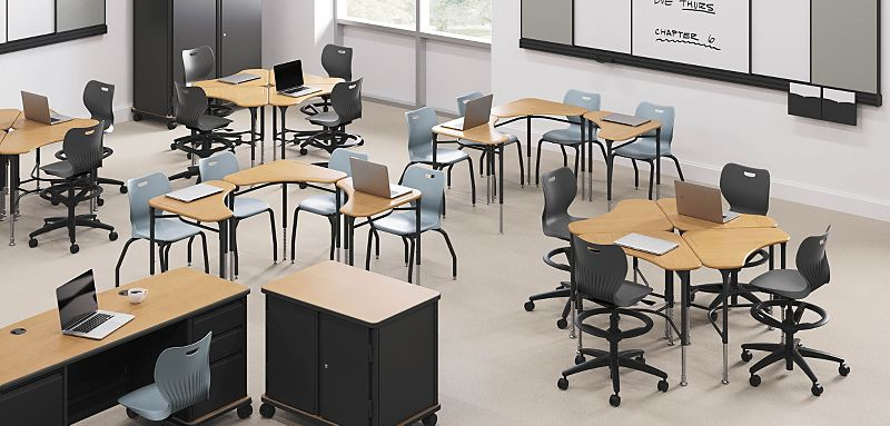 SmartLink Desks, Chairs, and Storage in a Classroom