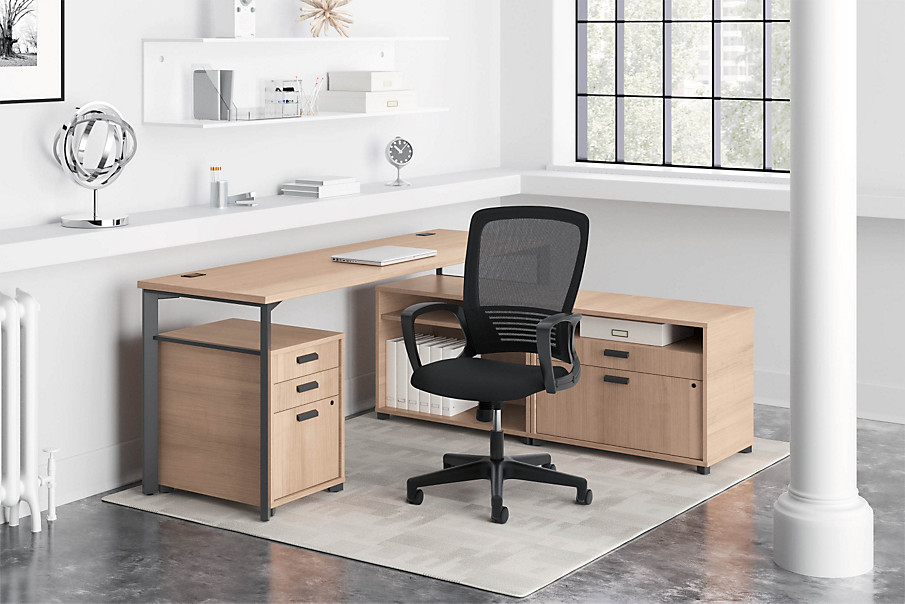 Manage Desks with HVL525 Chair