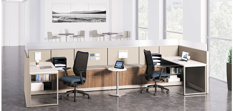 Abound Office Cubicles with Nucleus Chairs