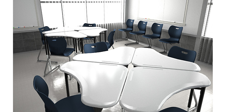 SmartLink Cantelever Chairs and Classroom Desks