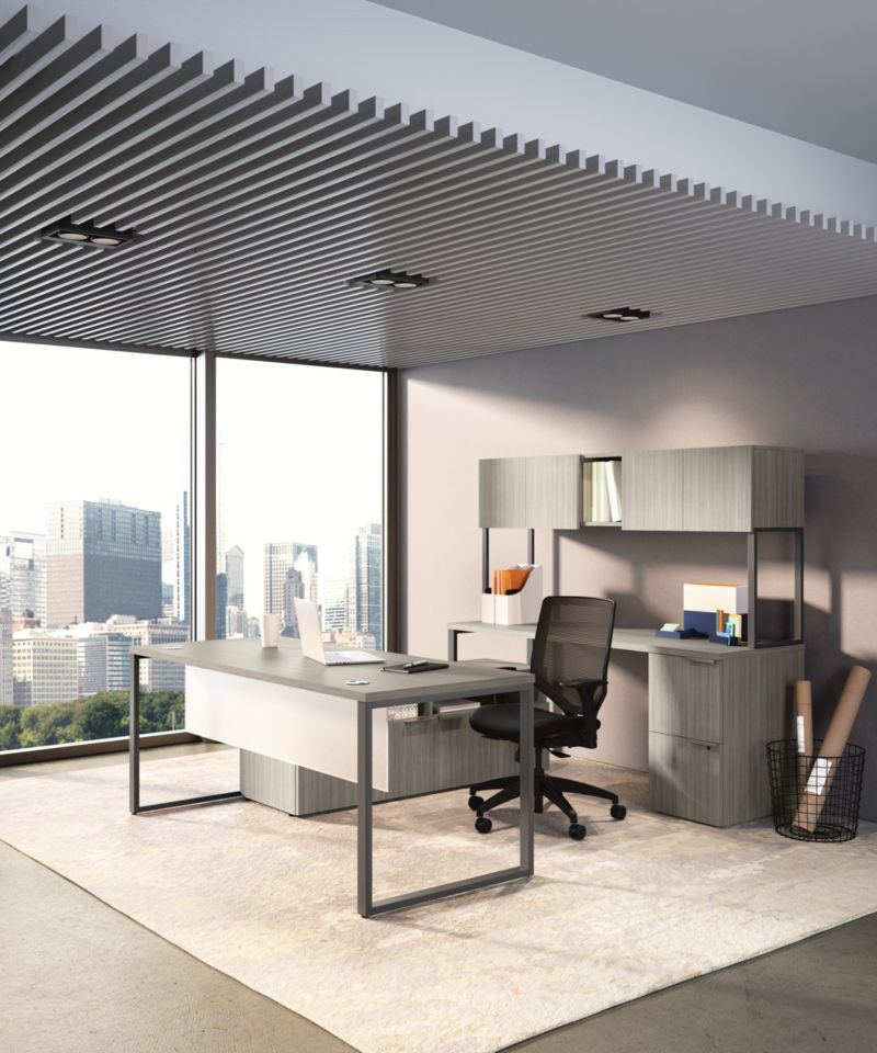 Voi desks with Solve chairs in an office