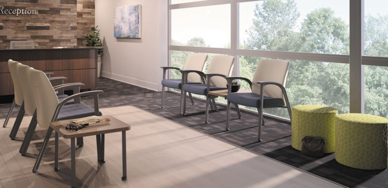 Soothe and Flock Waiting Room chairs
