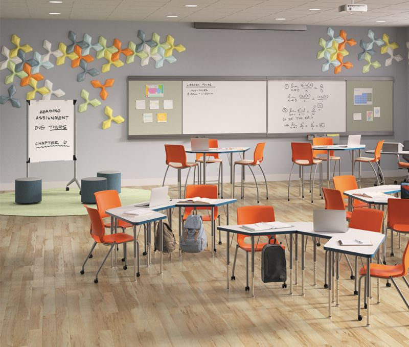 Build Student Desks with Unika Vaev Acoustic Solutions