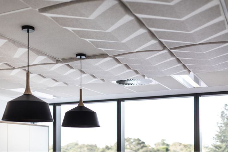 Unika Vaev Acoustic Solutions on the Ceiling