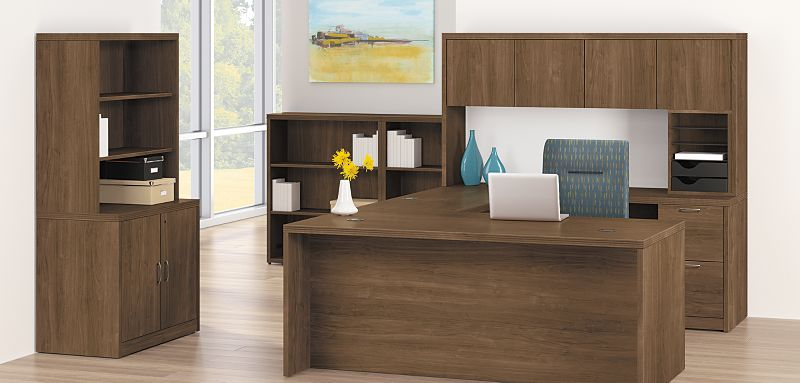 Valido U Shaped Desk with Pedestal