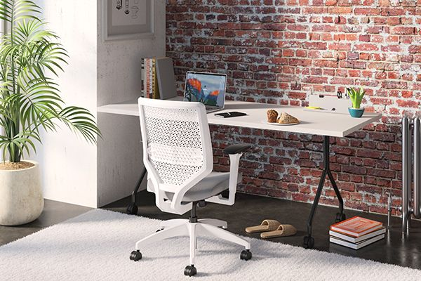 Work from home desk nook and chair