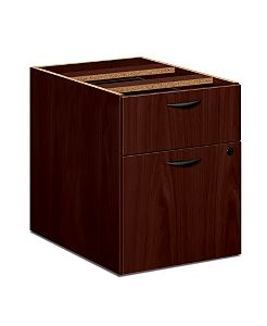 basyx BLSeries Pedestal File Dark Brown Front Side View HBL2164.NN