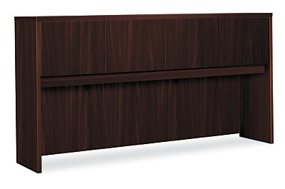 basyx BL Series Stack-On Hutch Mahogany Color Front Side View HBL2180.NN