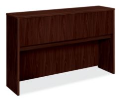 basyx BL Series Stack-On Hutch Mahogany Color Front Side View HBL2183.NN