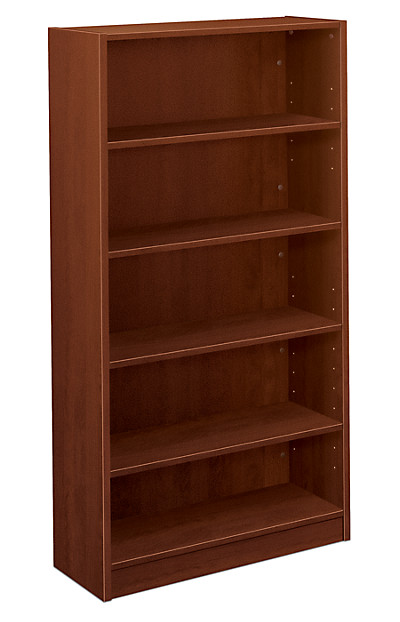 basyx-BLSeries 5-Shelf Bookcase Brown Front Side View HBL2194.A1A1