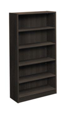basyx-BLSeries 5-Shelf Bookcase Black Front Side View HBL2194.ESES