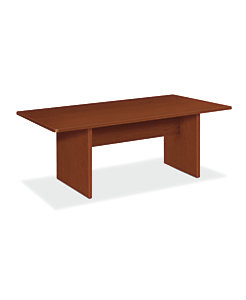 basyx BLSeries Laminate Conference Table Medium Cherry Front Side View HBLC48D.A1A1
